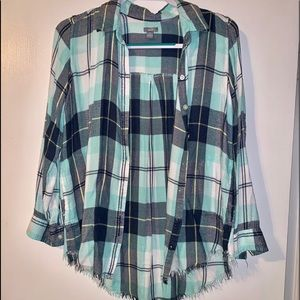 Aerie Distressed flannel